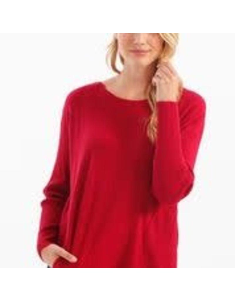 CHARLIE B Cherry plushy yarn sweater