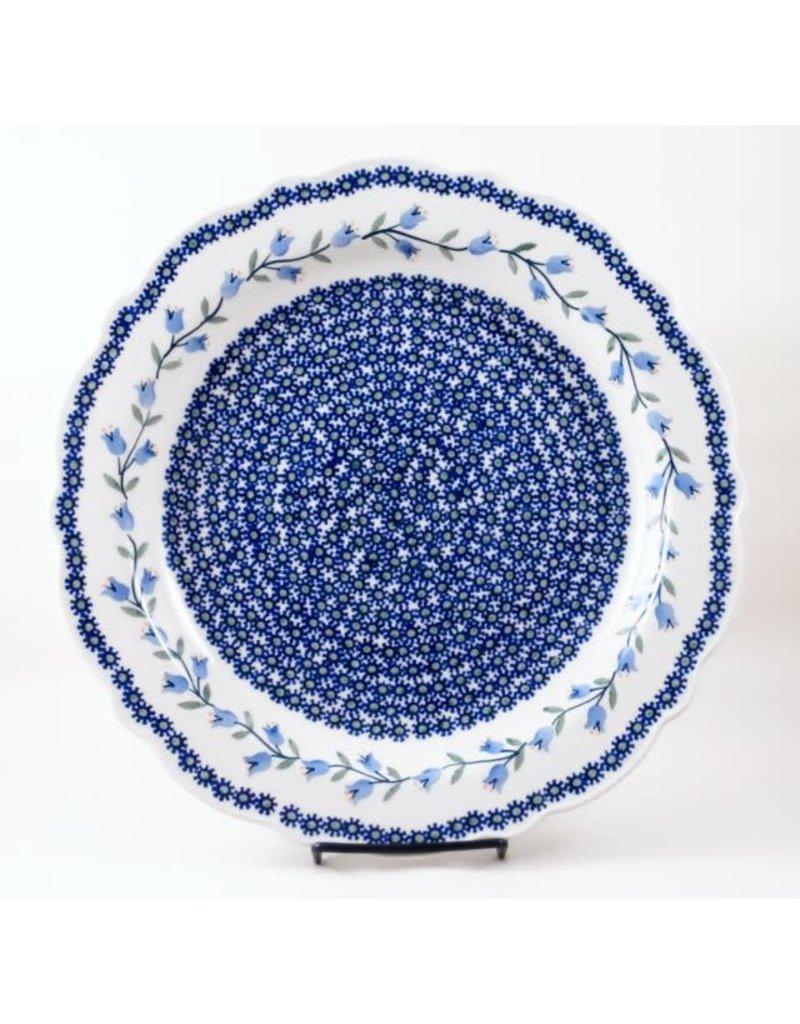 Traditional Scalloped platter 34cm t-142