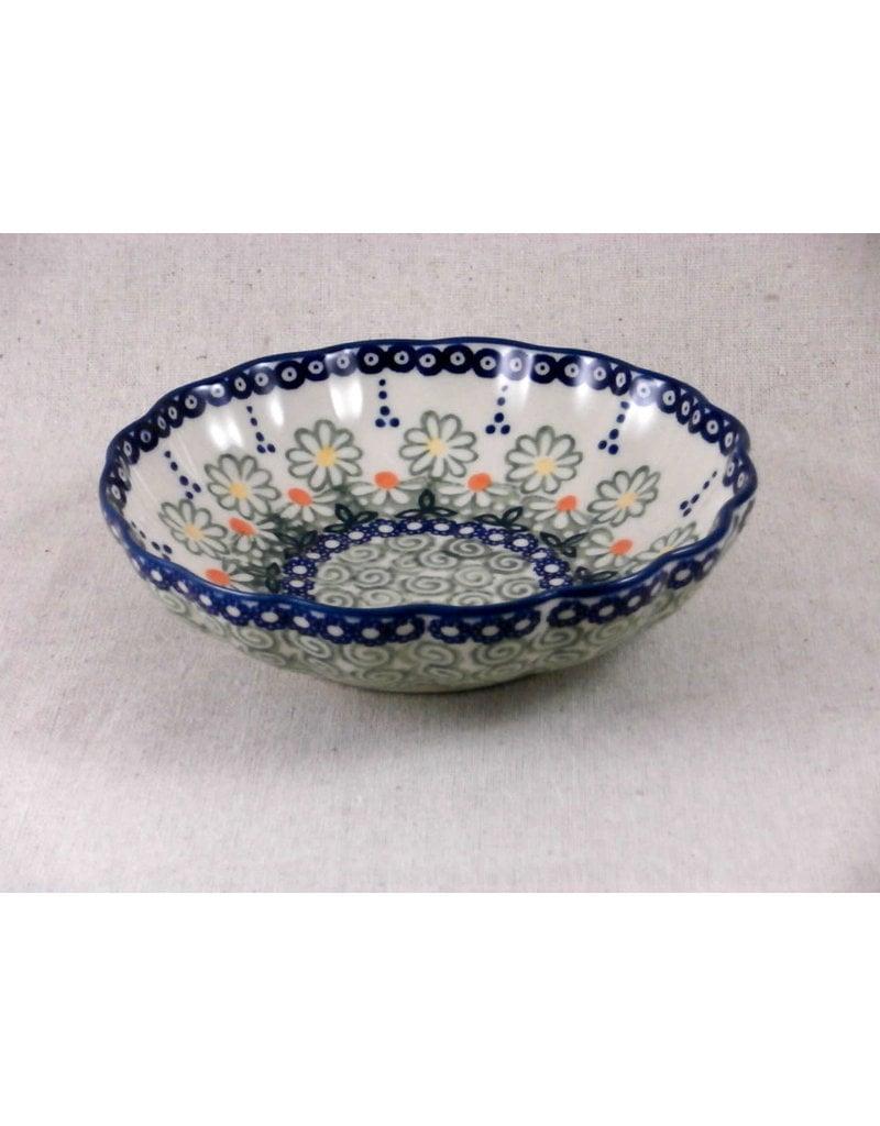 """Scalloped dish unikat 7.75"""" m0101"""