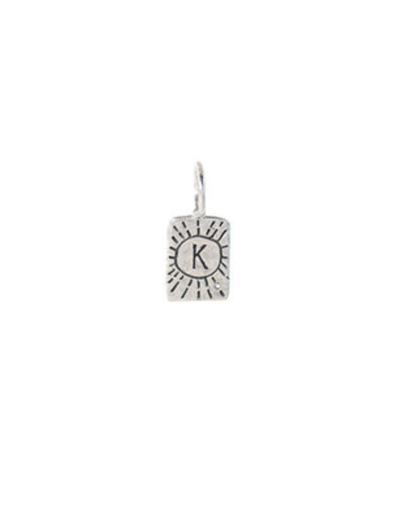 WAXING POETIC Initial encounter Charm ss/swrovski crystal intl 1ss