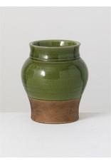 "6.5"" green Vase"