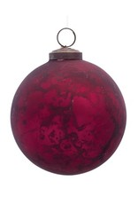 "Red Glass ball ornament 4"" 80181"