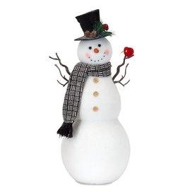 """Snowman & cardinal 20"""" 81248"""