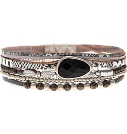 Big Gem Multi Strip Magnetic Bracelet MB158