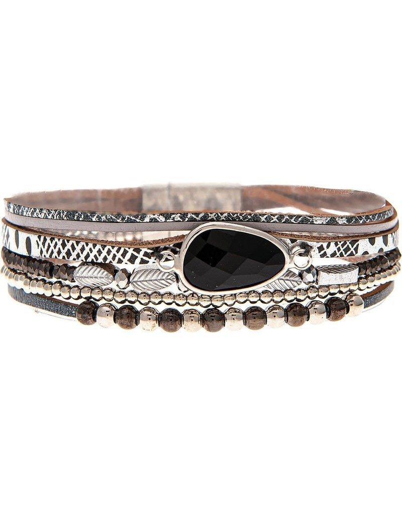 Big Gem Multi Strip Magnetic Bracelet MB158