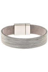 Silver Chain Band Magnetic Bracelet MB180