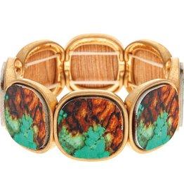 Mosaic Wood Bracelet B1805BR