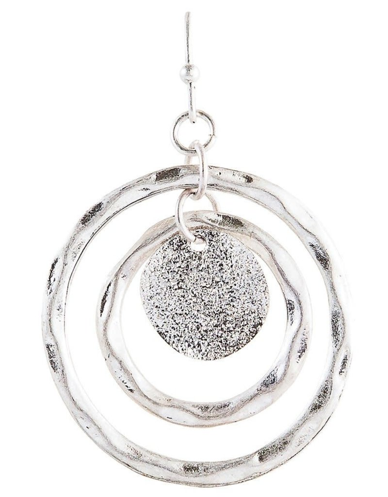 none Silver  Spinny Circle Earring E1033S