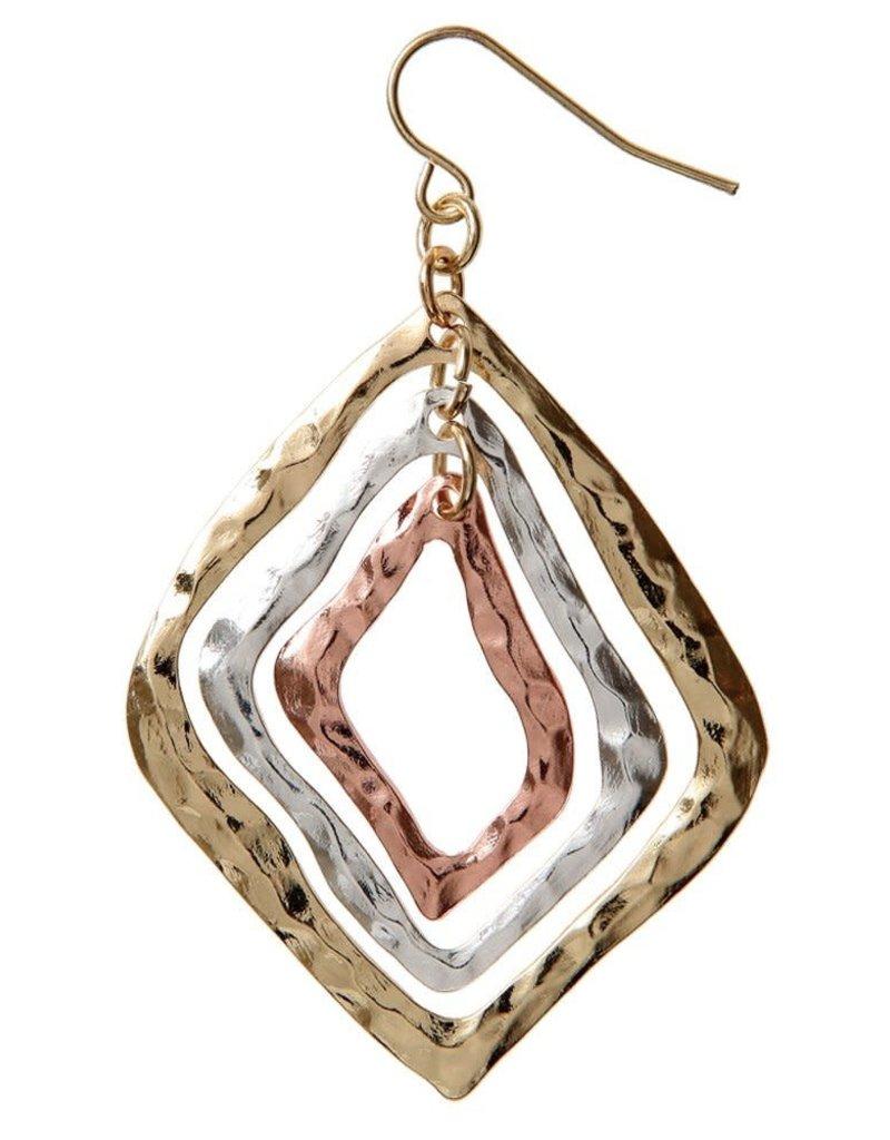Hammered Diamond Earring E112MLT