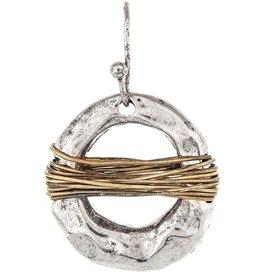 Wire Wrap Circle Earring E2290TT