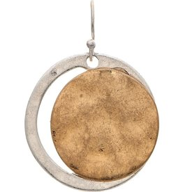 Disc On Circle Earring E2547TT