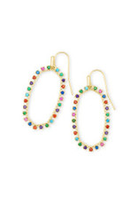 KENDRA SCOTT Elle open form earring gold metal multi cz 4217709673