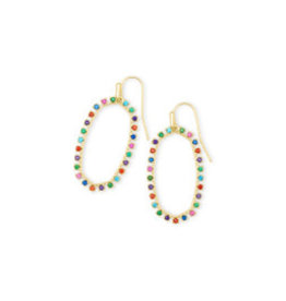 KENDRA SCOTT Elle open form earring gold metal multi cz 4217709673