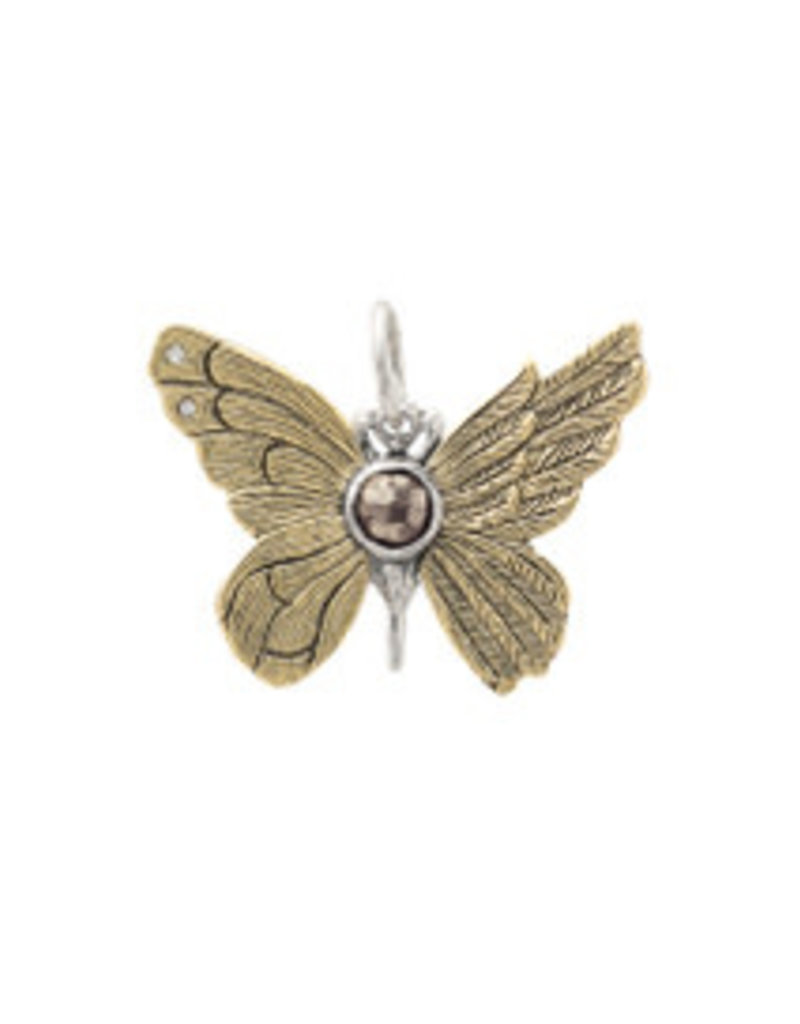 WAXING POETIC ascension butterfly pyrite pendant ab4ms