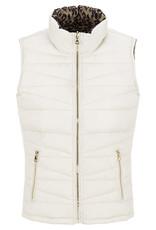 Tribal Leopard & Cream reversible puffer vest