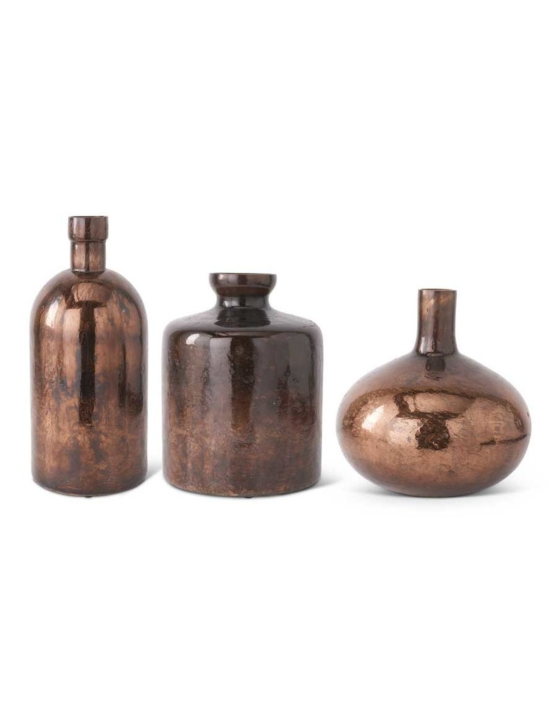 Antique Bronze Glass Bottle Vase 14043A-SIBZ