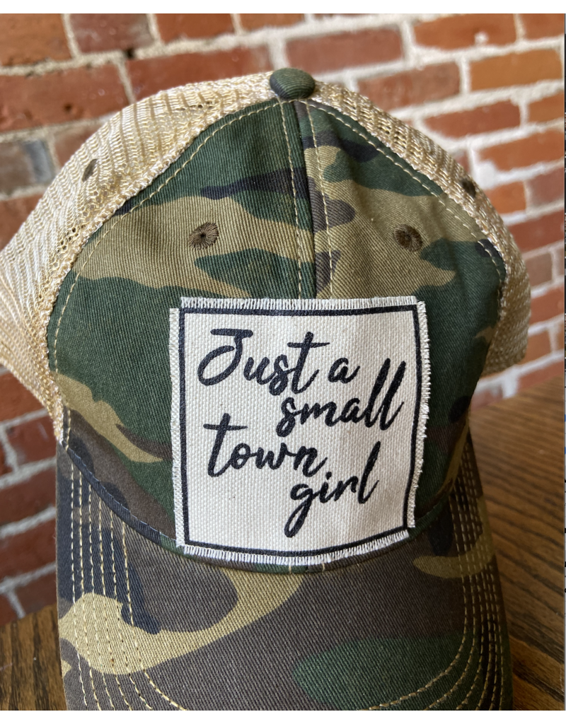 Camo Just a small town girl hat