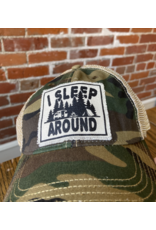 I sleep around camo hat