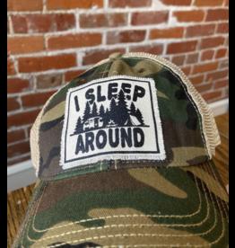 I sleep around camo hat