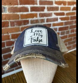 Love my tribe blue hat