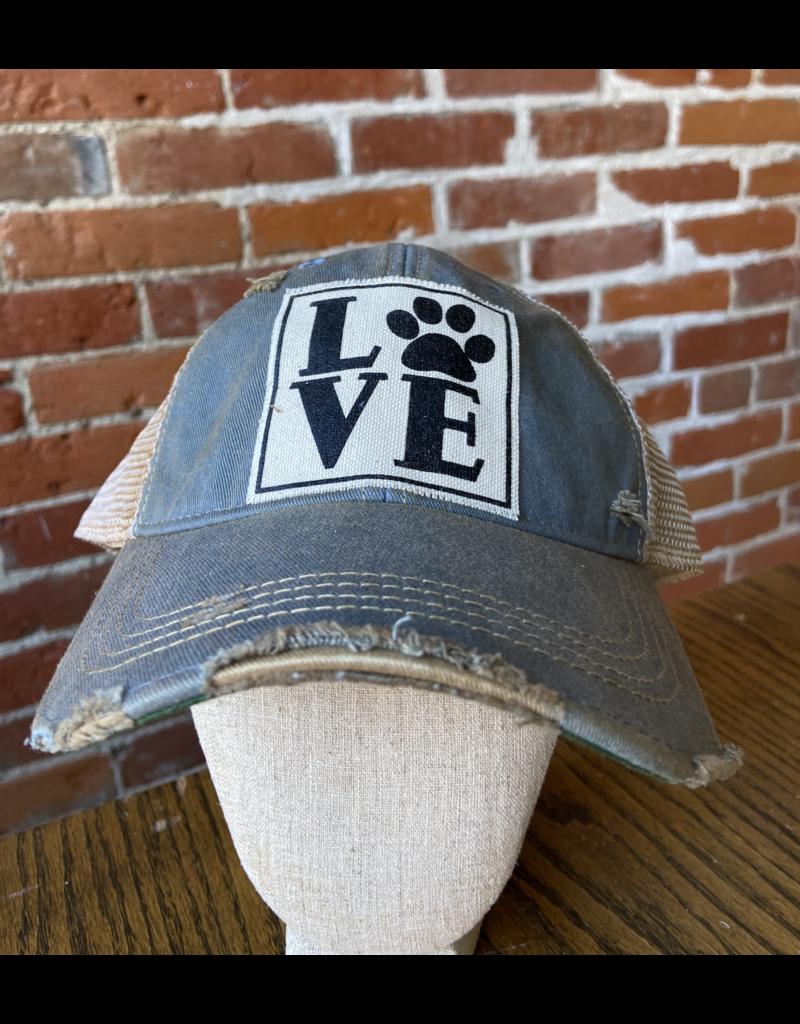 LOVE paw blue hat