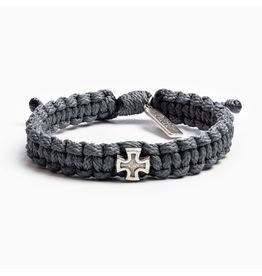 MY SAINT MY HERO Strength Bracelet for Men grey/silver