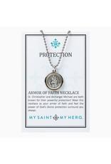MY SAINT MY HERO Armor of FAith protection necklace