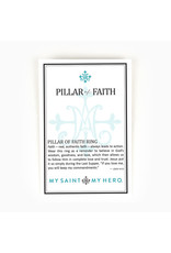 MY SAINT MY HERO Pillar of faith gold ring