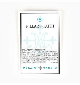 MY SAINT MY HERO Pillar of faith gold ring
