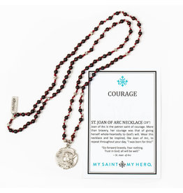 MY SAINT MY HERO Joan of Arc Courage necklace