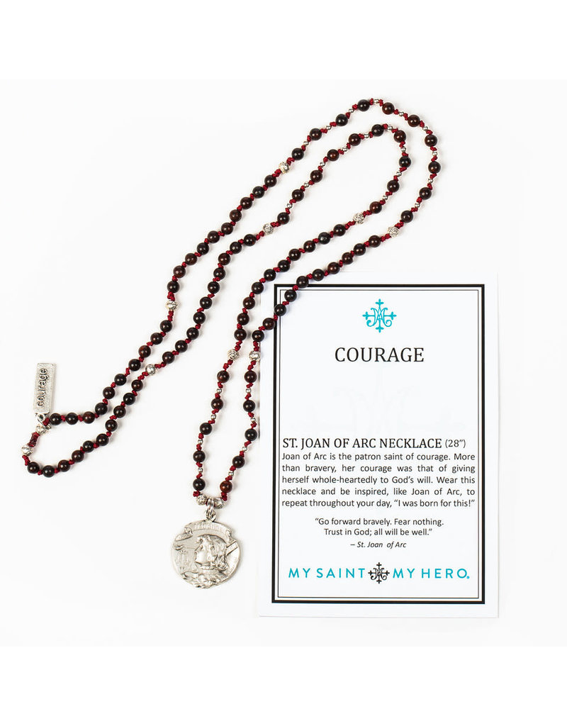 MY SAINT MY HERO Joan of Arc Courage necklace