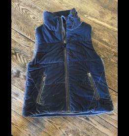 Dylan Vintage blue velvet puffer vest