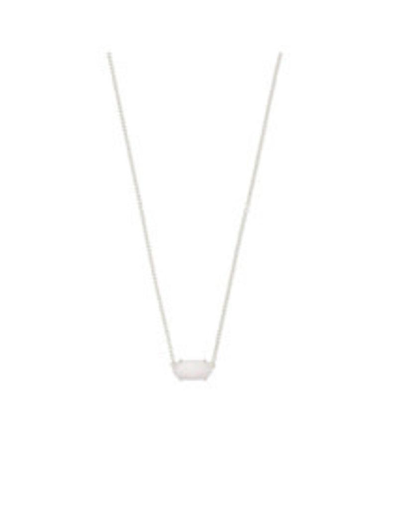 KENDRA SCOTT Ever necklace rhodwhite opal 4217717444