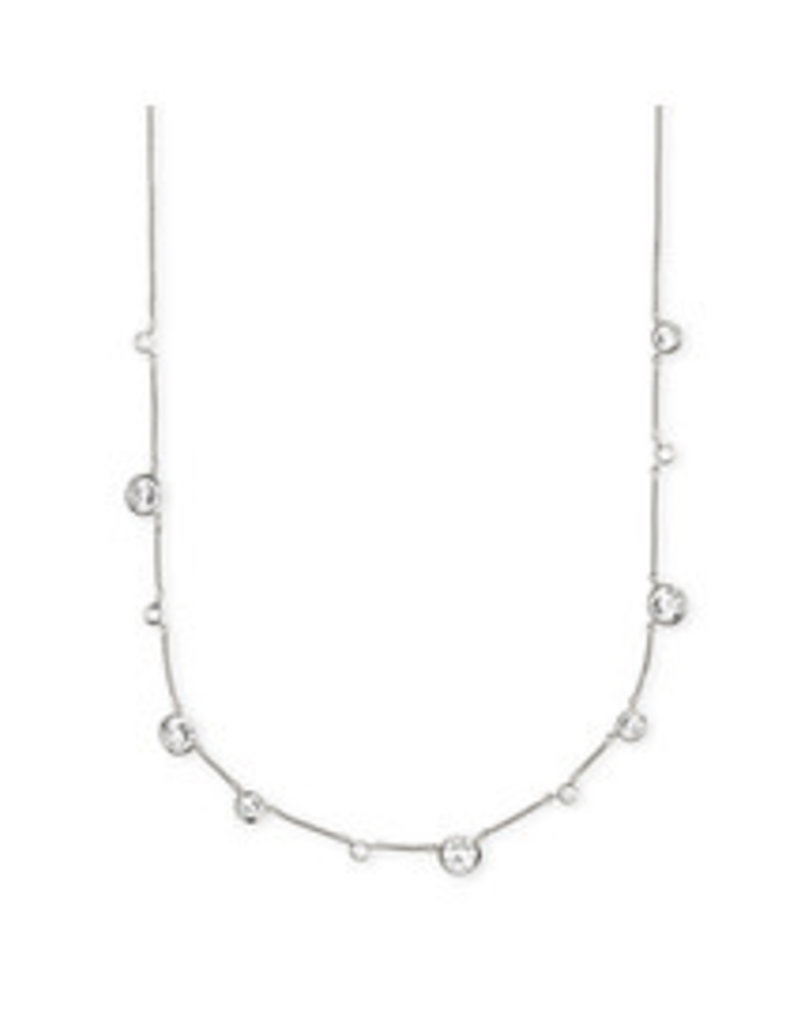 KENDRA SCOTT Clementine necklace rhod metal white cz 4217702873
