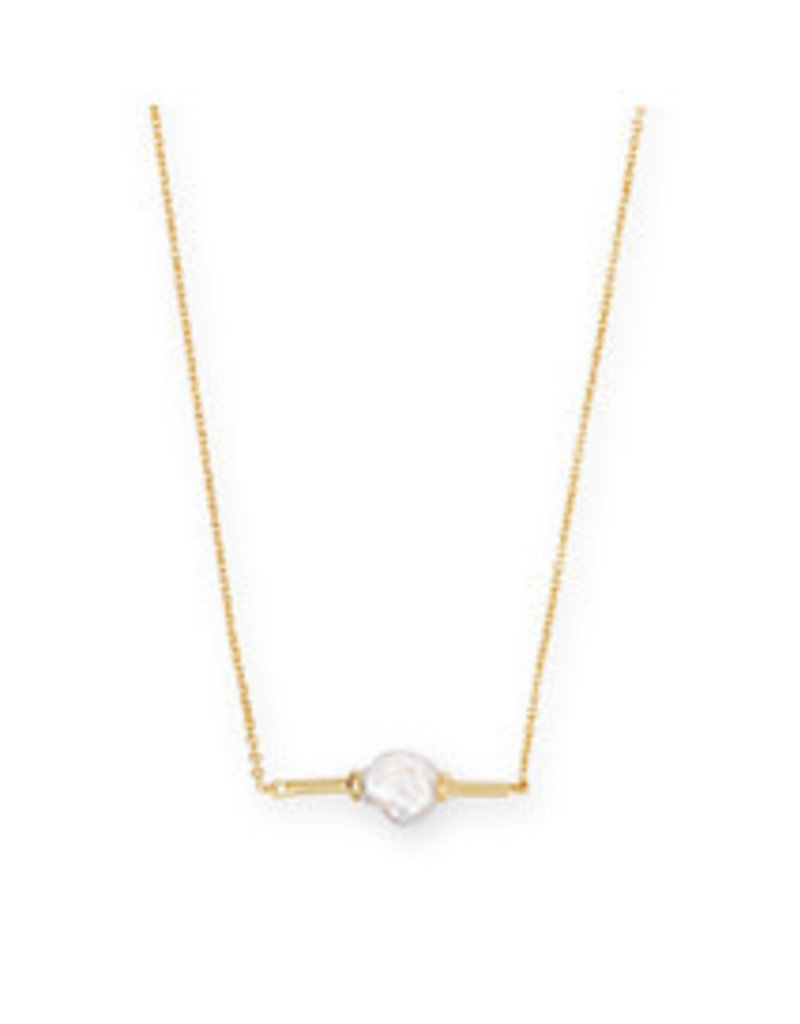 KENDRA SCOTT Emberly necklce gold baroque pearl 4217703193