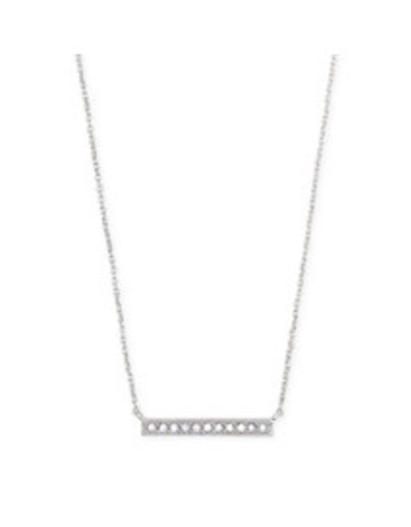 KENDRA SCOTT Addison short pendant necklace rhod metal 4217706318