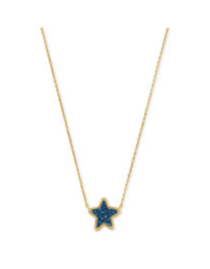 KENDRA SCOTT Jae Star short pendant gold blue drusy 4217711508