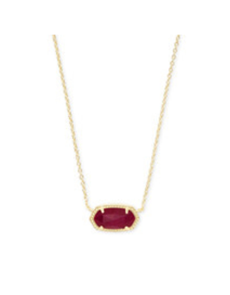 KENDRA SCOTT Elisa necklace gold maroon jde 4217712766