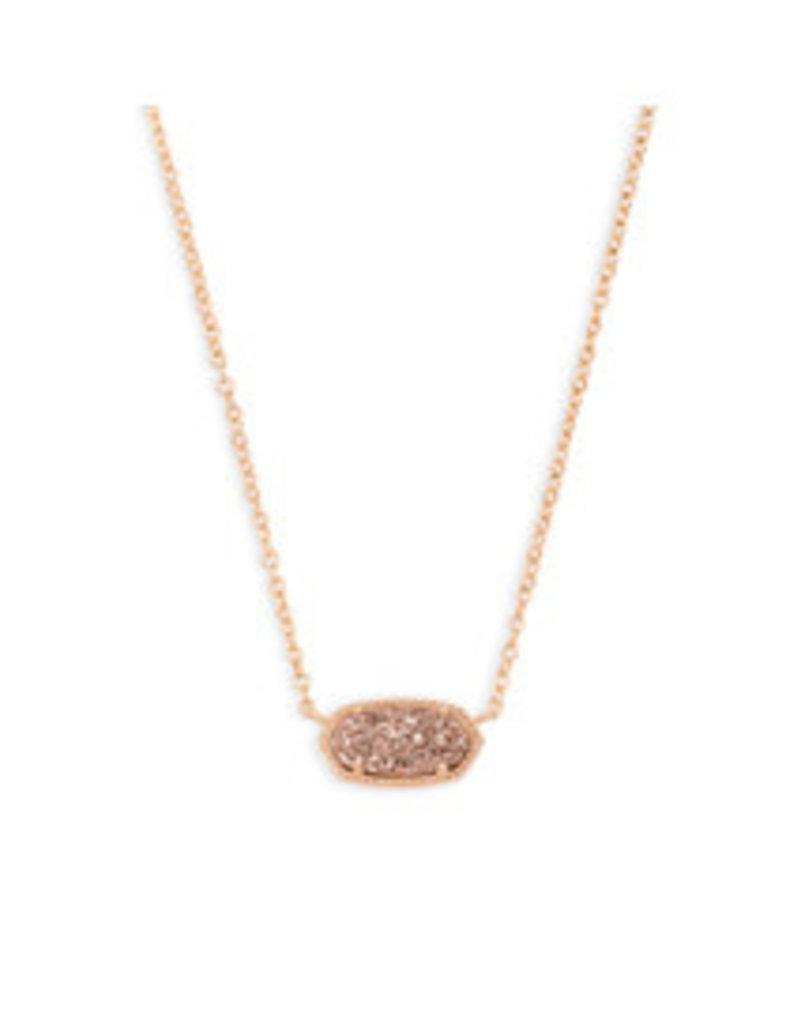 KENDRA SCOTT Elisa necklace rose gold drusy 4217712489