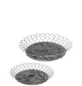 Bird design tray basket n2107