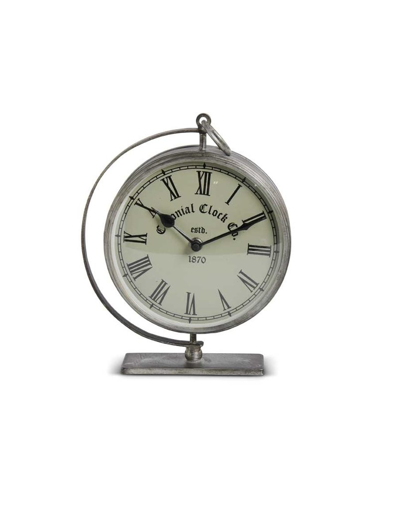 Brushed metal desk clock15761