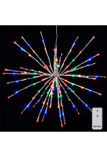 23 silver starburst with 150 multi color lights & remote 3937018