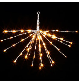 """18"""" silver starburst with 80 multi color lights and remote 3937017"""
