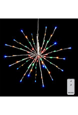 "18"" silver starburst with 80 multi color lights and remote 3937017"