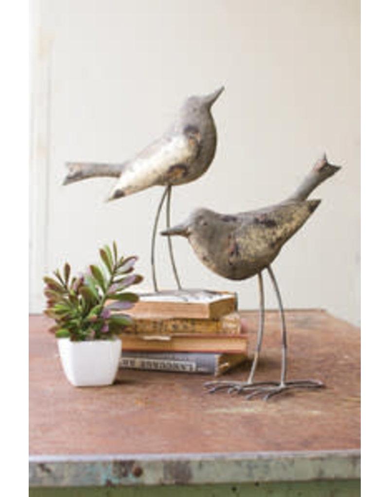 """Rustic grey metal bird 13"""" che1079"""