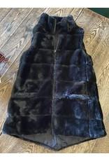 Black long reversible vest