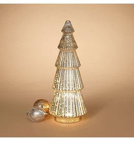 "lighted hand blown mercury glass tree 21.7""H 2544310"