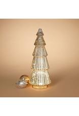 "lighted handblown mercury glass tree w timer 15"" H 2544320"