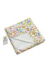 Floral luxury bamboo baby blanket