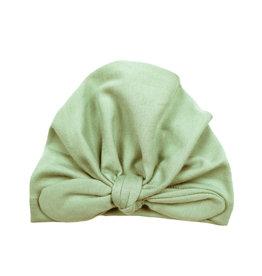 Sage green baby turban